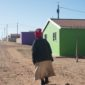 Woman walking in township